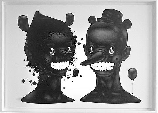 Ilustración en blanco y negro de YURY USTSINAU