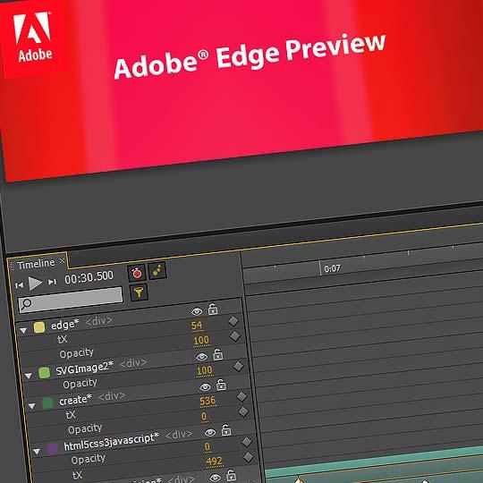 Adobe lanza ADOBE EDGE. La animación web cambia