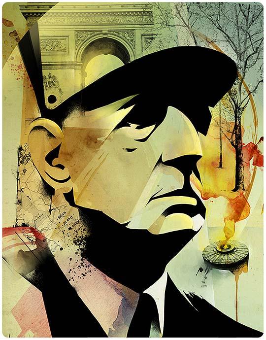 Retratos de famosos e ilustración de ALEXEY KURBATOV
