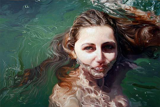 Pintura realista y mucha agua de ALYSSA MONKS