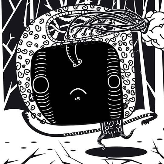 Ilustración. Blanco y Negro de SR VUDU