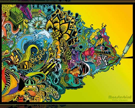 Diseño e ilustración digital de CARLOS VELÁSQUEZ