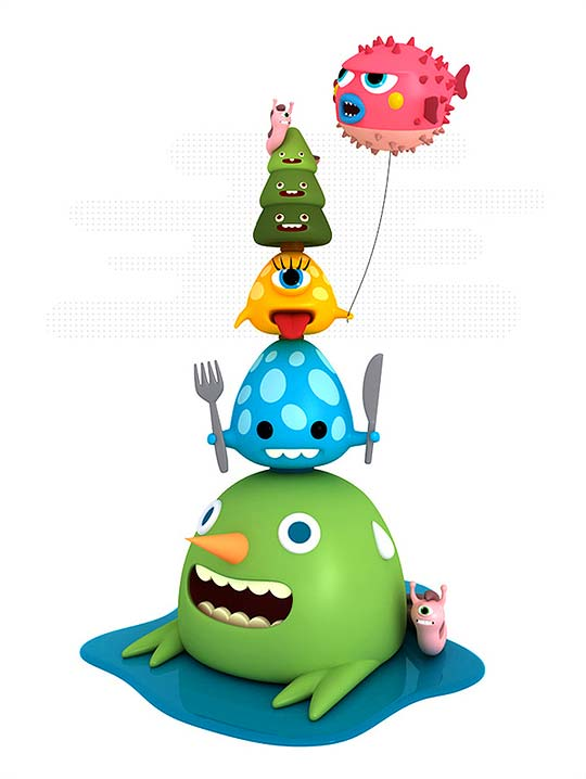 3D e Ilustración de personajes de CESC GRANÉ