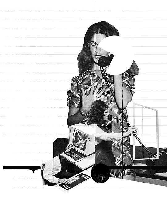 Ilustración en collage de ETTORE CAVALIERE
