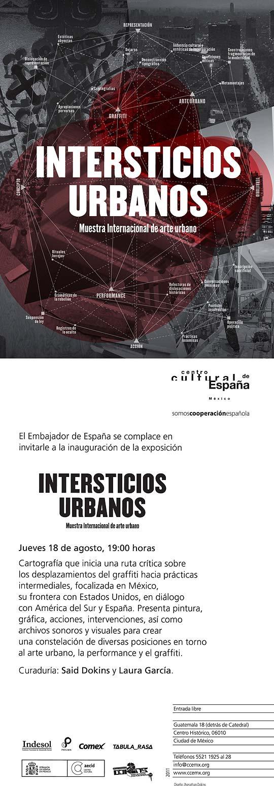Exposición arte urbano INTERSTICIOS URBANOS