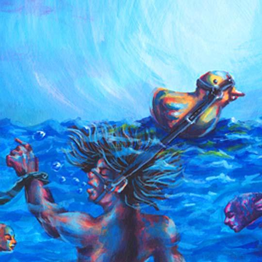 Ilustración. Flotando en el vacío de ABRAHAM PONCE