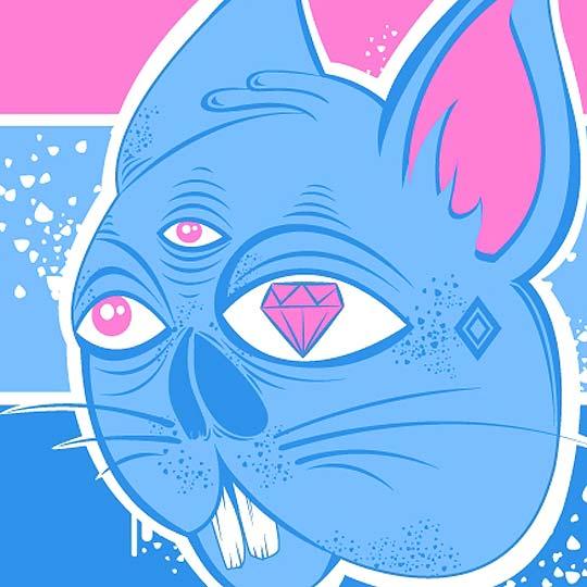 Ilustración. Conejo/Gato de JORGE MADURO