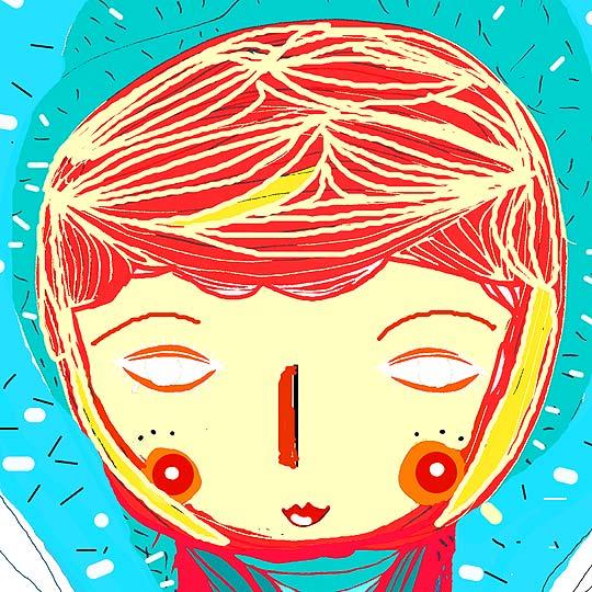 Ilustración. Ella entre colores de VIVIAN PANTOJA ORTEGA