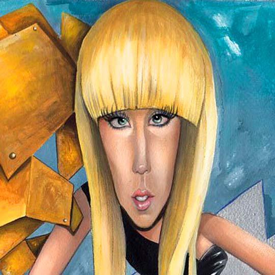 Caricatura. Lady Gaga por WALDO MATUS