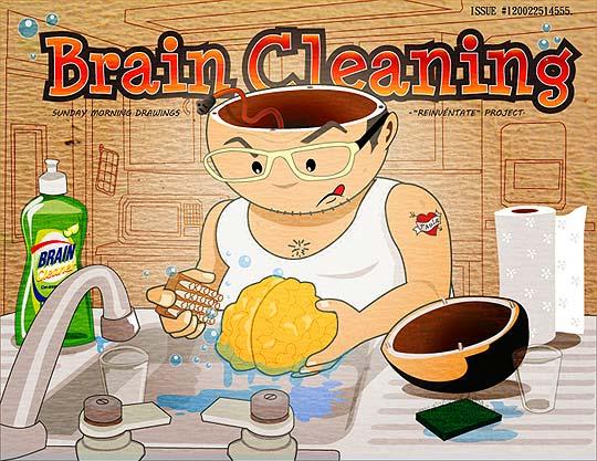 Ilustración. Lavar cerebro de DARÍO BOLÍVAR