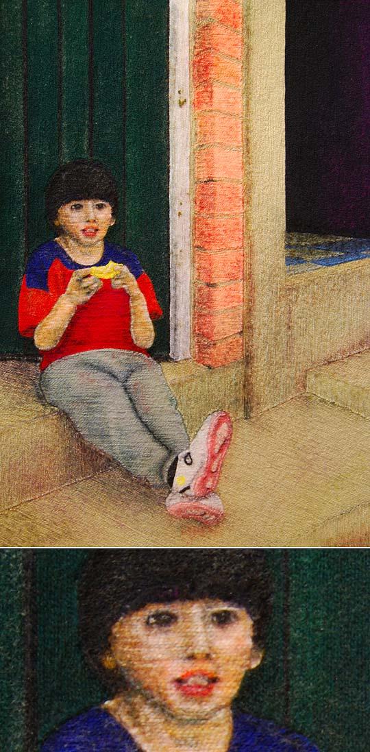 Ilustración. Niño de la puerta de KIVENSAJIBB MORENO