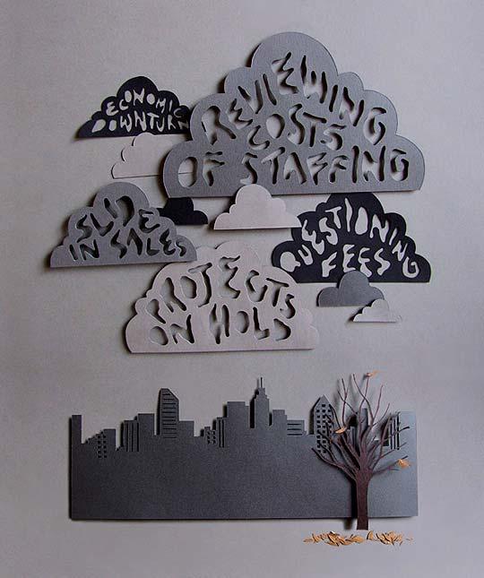 Ilustración en papel y 3D de OWEN GILDERSLEEVE