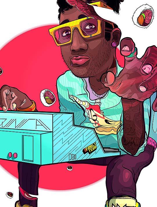 Ilustración. SushiMe de ANDRÉS ARIZA