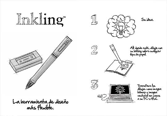 WACOM INKLING, lápiz digital sin tabla