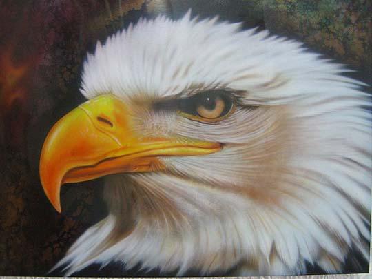 Aerografía. Águila de ADRIANO AYERBE