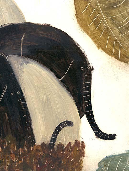 Ilustración en detalle. Los elefantes de DIPACHO