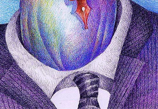 Caricatura en detalle, Vargas Llosa de TURCIOS