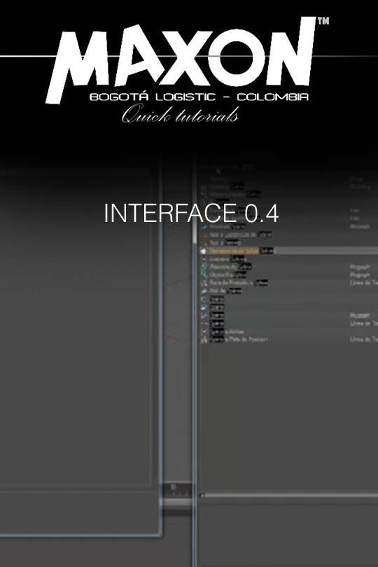Tutorial CINEMA 4D 0.4 Interface