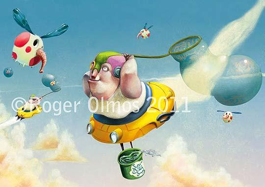 Ilustración en detalle de ROGER OLMOS