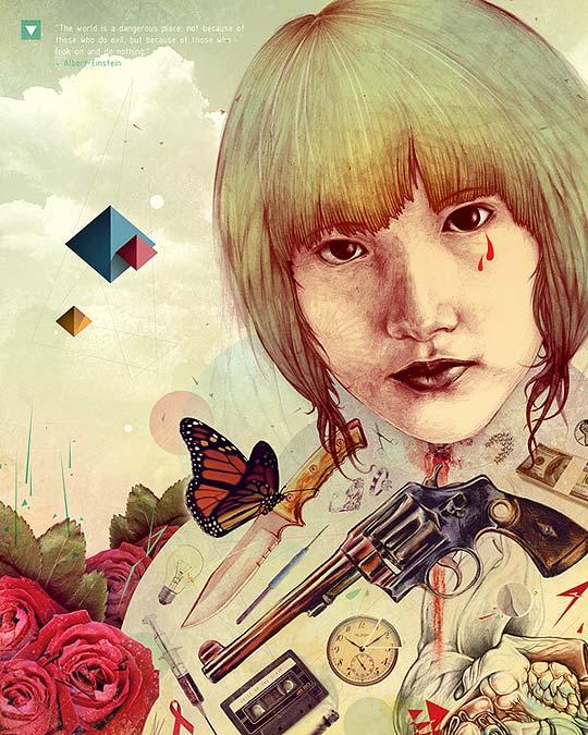 Ilustración. Lápiz y Photoshop con TARIN YUANGTRAKUL