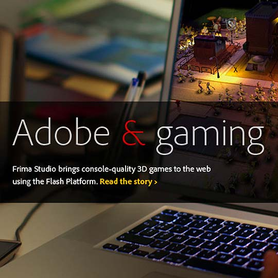 Adobe impulsa juegos 3D y lanza Flash Player 11 y AIR 3