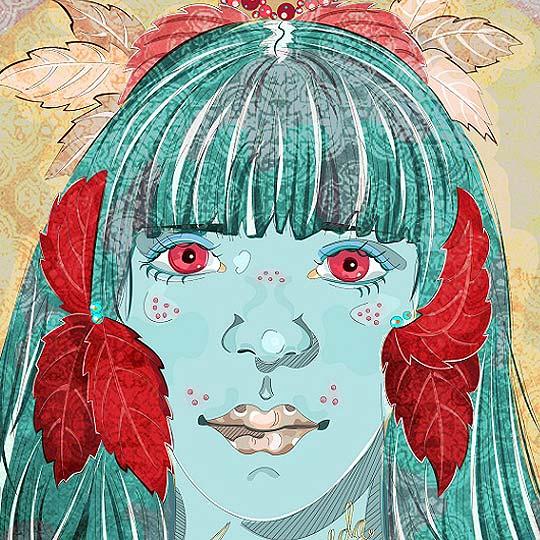 Ilustración. Andrómeda de LAURA CAIMAN
