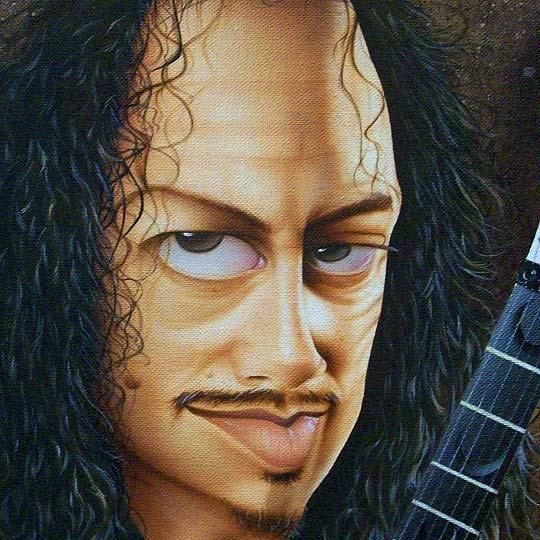 Aerografía. Kirk Hammett de CESAR DEFERRARI