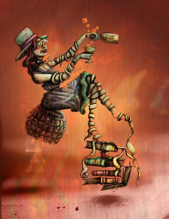 Ilustración. Pasajera de Hache Holguín
