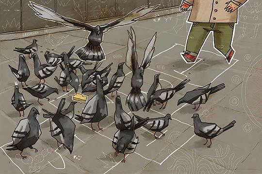 Ilustración. Rayuela de JONATHAN ROSAS