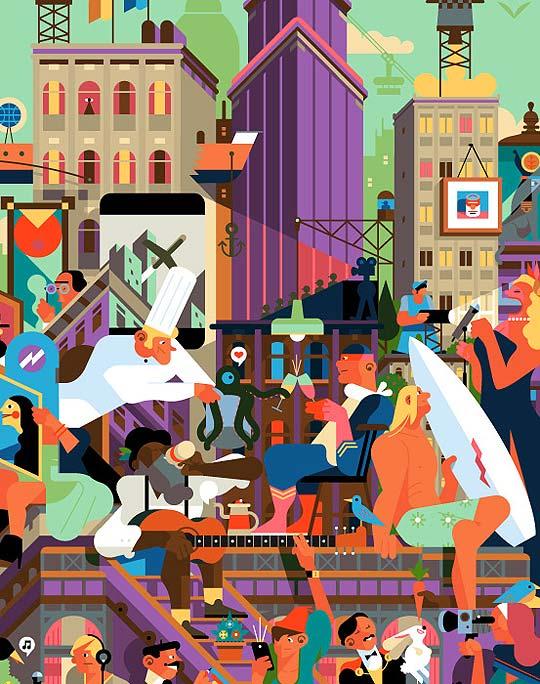 Ilustración, dibujo y color de SAM VANALLEMEERSCH