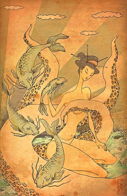 Ilustración. The sea de GABRIEL RAMÍREZ (Gabrio)