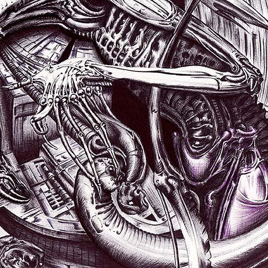 Dibujo. Una mirada a Giger de JIMMY RENGIFO
