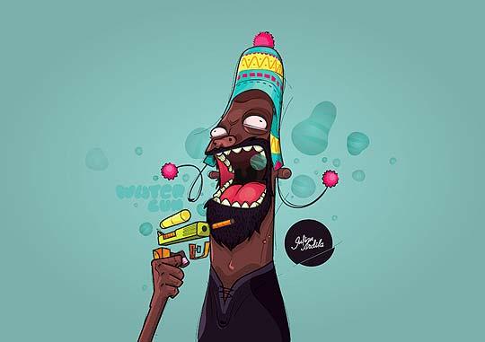 Ilustración. Cholo de JULIAN ANDRES ARDILA SUAREZ.