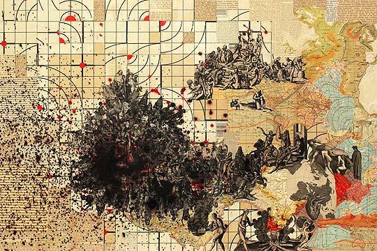 Ilustración en collage de MATTHEW CUSICK