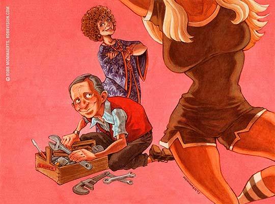 Ilustración en acuarela de ROBB MOMMAERTS