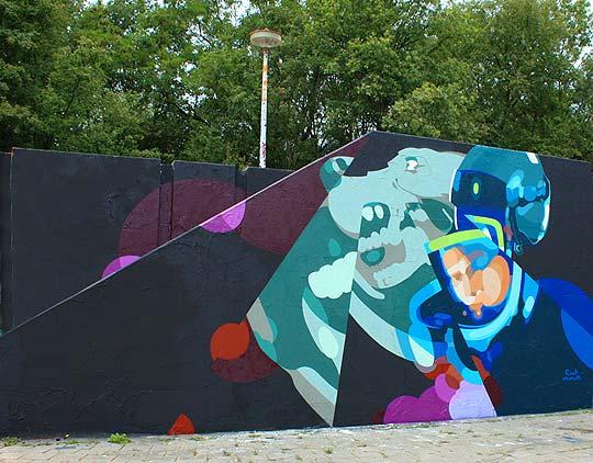 Ilustración y arte urbano. El arte de SAT ONE.