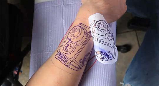Stop-motion, fotografía y tatuaje en DABE ALAN