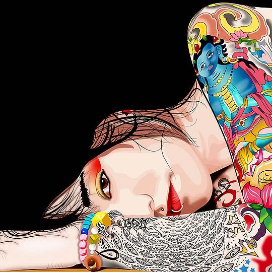 Ilustración. Suicide Girl de MAURO MENDOZA
