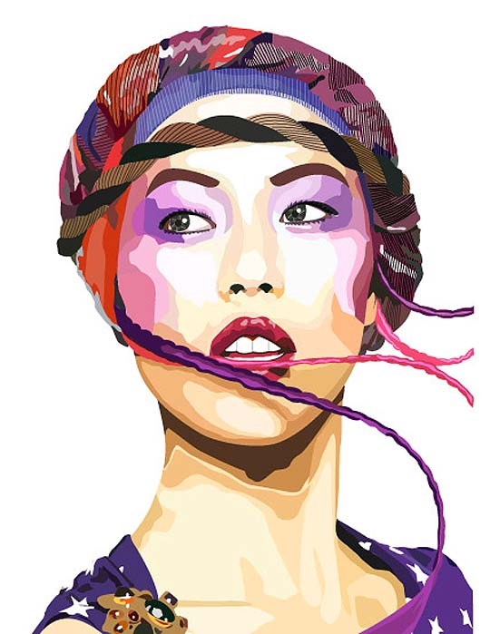 Ilustración. Isabeli Fontana de CRISTINA RESTREPO