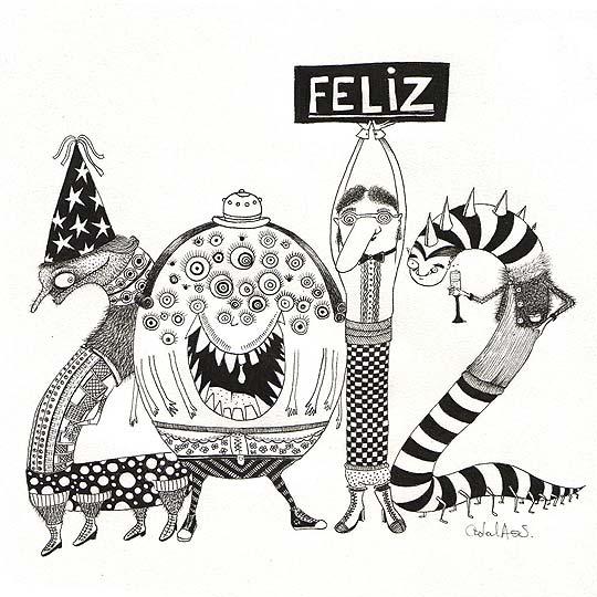 Postal de navidad 2012 de CATALINA ACELAS SANTANDER
