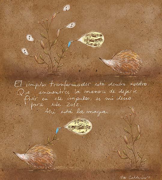 Postal de navidad 2012 de MARCELA CALDERÓN