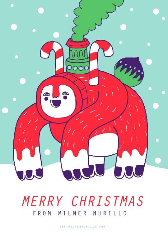 Postal de navidad 2012 de WILMER MURILLO