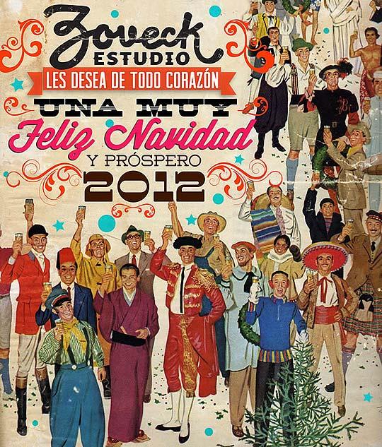 Postal de navidad 2012 de ZOVECK ESTUDIO
