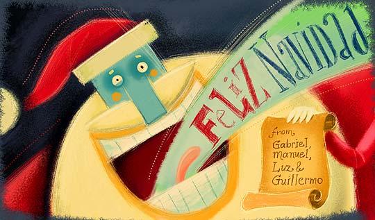 Postal de navidad de GUILLE CUBILLOS