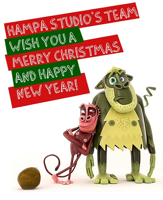 Postal de navidad 2012 de Hampa Studio
