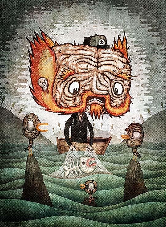 Ilustración. Personajes y posters de TUOMAS IKONEN