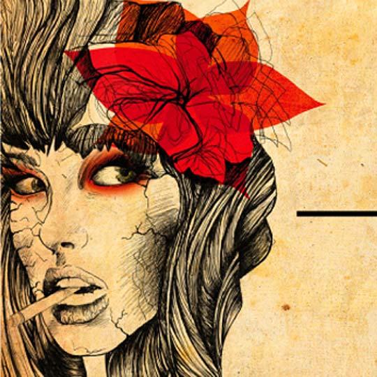Ilustración. Mysterious Girl de ESTELA CORREA