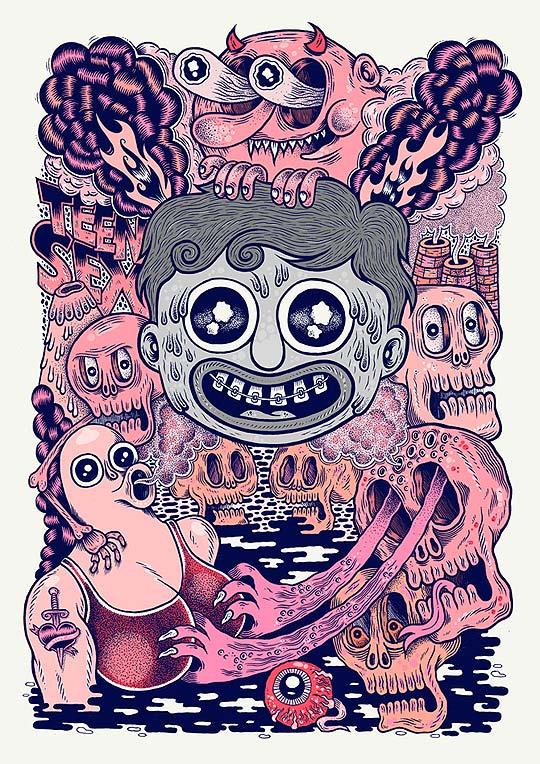 Ilustración, color y algo de diseño de NICOLAS TUAL