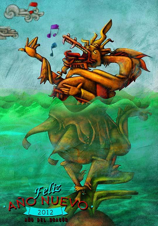 Postal de navidad 2012 de HACHE HOLGUÍN