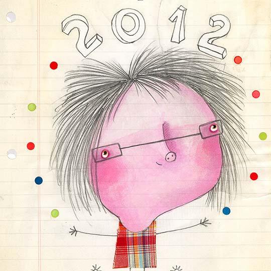 Postal de navidad 2012 de ELISSAMBURA